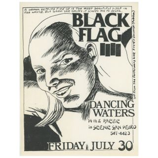 Black Flag at Dancing Waters. Raymond Pettibon
