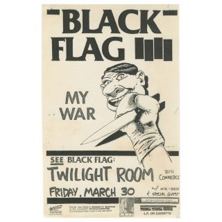 Black Flag – My War – Twilight Room. Raymond Pettibon