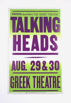 Talking Heads at the Greek Theatre