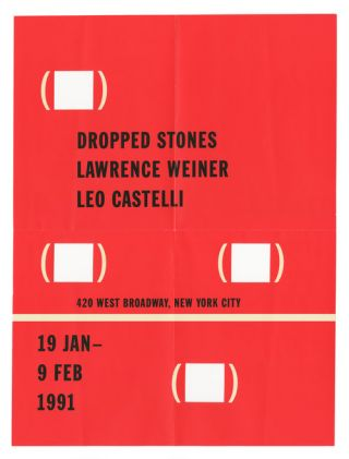 Dropped Stones. Lawrence Weiner