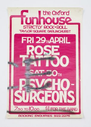 Rose Tattoo and Psycho Surgeons. The Oxford Funhouse